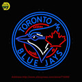 Toronto Blue Jays MLB Neon Sign Exibição Lâmpada de Néon Esportes Neon Tubo De Vidro da lâmpada Artesanato Presente Affiche Neon interior Janela VD 24x24