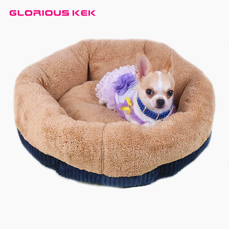 Dog Beds for Small Dogs Winter Warm Deep Dish Cat/Dog Bed Dirt-Resist Waterproof Pet House Soft Comfort Puppy Nest Cat Cuddler