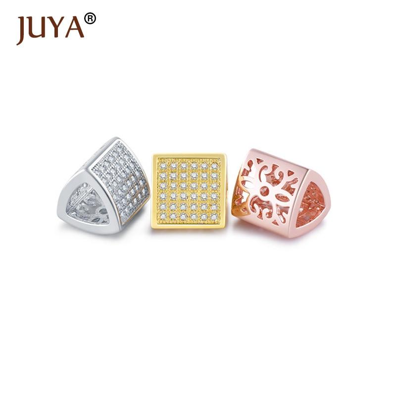 Jewelry Making Supplies Micro Pave AAA Zirconia Rhinestone Crystal Hollow Big Hole Beads For Jewellery Make DIY sieraden maken