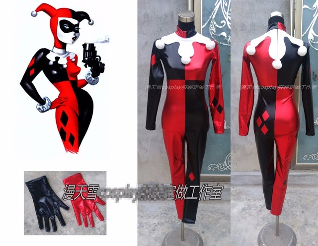 [Customize]Anime! A New Adventure DC Batman Harley Quinn Cosplay Costume Free Shipping scribblenauts unmasked a dc comics adventure
