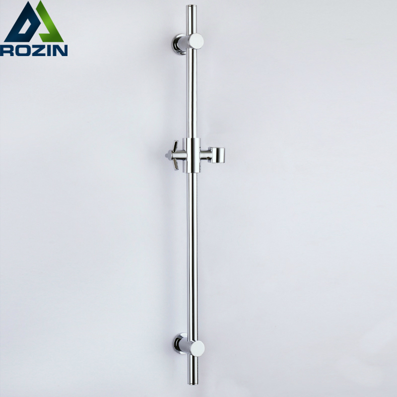 Chrome Wall Mounted Shower Sliding Bar Shower Faucet Lifting Pipe with Handheld Shower Bracket Adjustable Lifting Rod