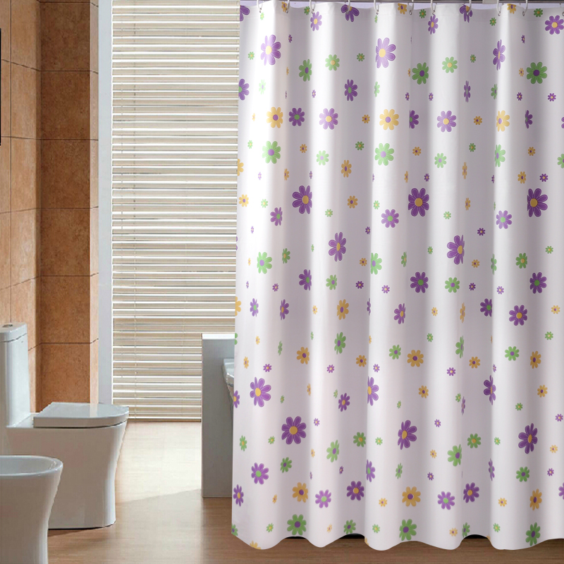 Free Shipping Different Size Flower Shower Curtain