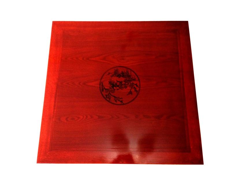 Square 80x80cm Korean Floor Table Folding Legs Luxury Antique Home