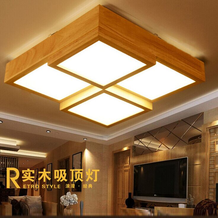 Lights & Lighting Japanese Style Delicate Crafts Wooden Frame Tatami Led Ceiling Lights Luminarias Para Sala Ceiling Lamp Ceiling Lights & Fans