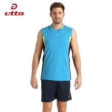 Etto профессиональный Мужской без рукавов набор для волейбола командная форма дышащий Быстросохнущий волейбольный Джерси костюм Спортивная одежда HXB002
