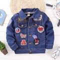 Bape дети джинсовую куртку детей зимняя одежда верхняя одежда мальчики младенческой верхняя одежда бомбардировщик jacke рождество пальто новорожденных девочек с капюшоном