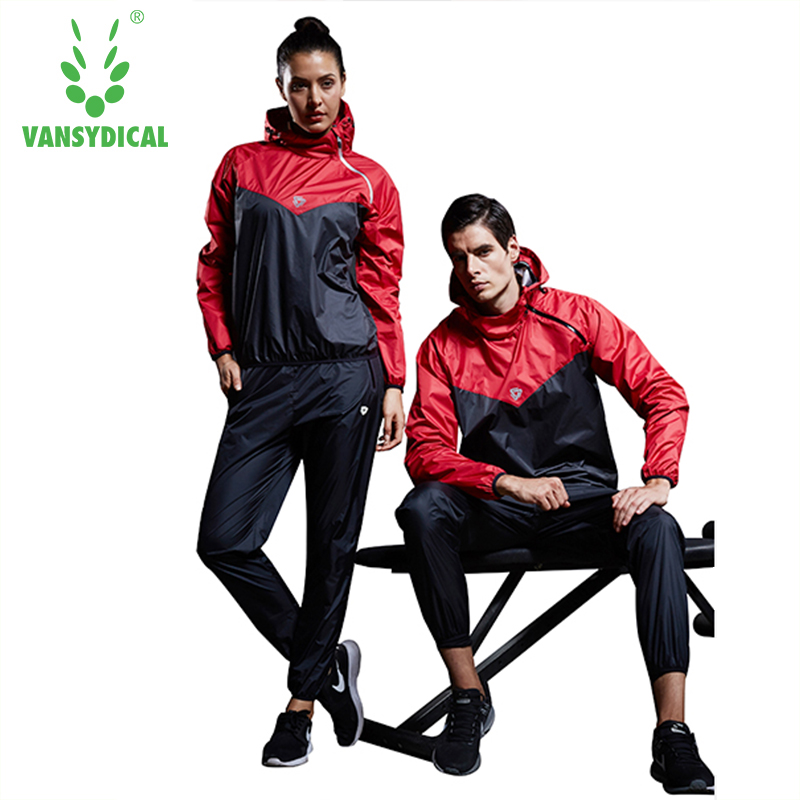 VANSYDICAL 2018 2pcs Gym Sportswear Fitness Track Training Suits Sweat Suit Womens And Mens Sports Running Suits ...