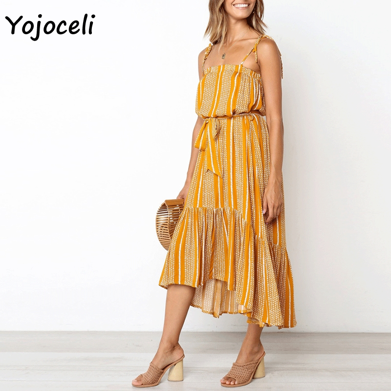 Cuerly 2019 summer big pendulum print dress women bohemian beach long dress sexy summer sundress female vestidos L5 in Dresses from Women 39 s Clothing