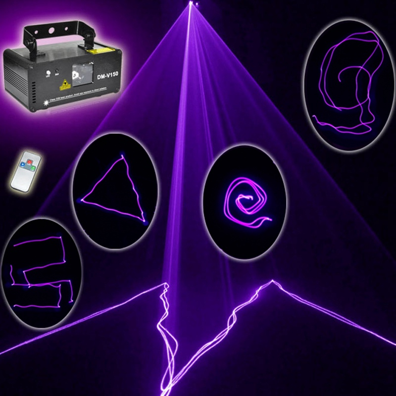 Mini UV Purple LED Stage Light DMX Stage Lighting Effect Laser Projector Light For DJ Party Show Holiday Decoration Lamp Lights rg mini 3 lens 24 patterns led laser projector stage lighting effect 3w blue for dj disco party club laser