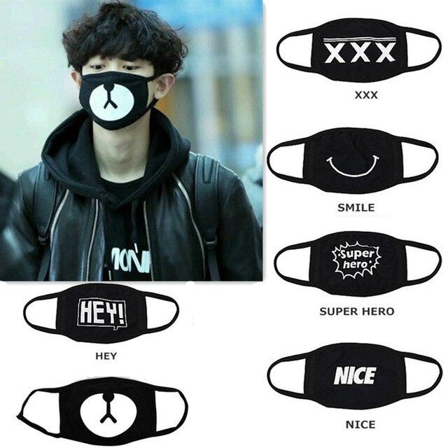 e4d871f5069 1PC Cotton Dustproof Mouth Face Mask Unisex Korean Style Kpop Black Bear  Cycling Anti-Dust Cotton Facial Protective Cover Masks