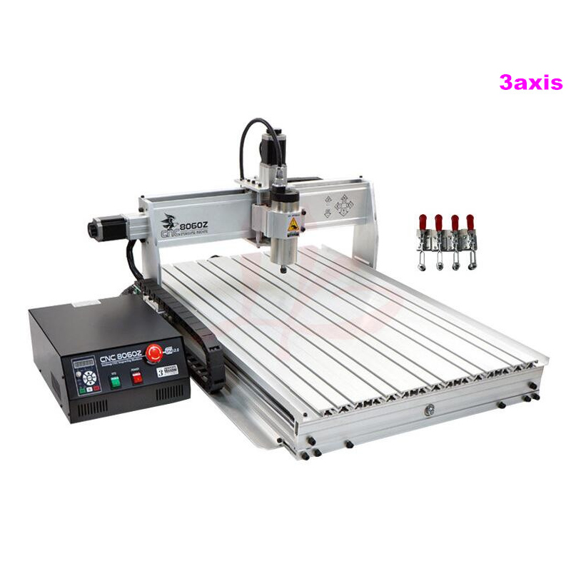 High tech mini cnc milling machine cnc 8060Z-USB 1500W water cool mini cnc router free tax to Russia free tax to russia cnc router milling machine 3040 800w spindle ball screw with usb adapter