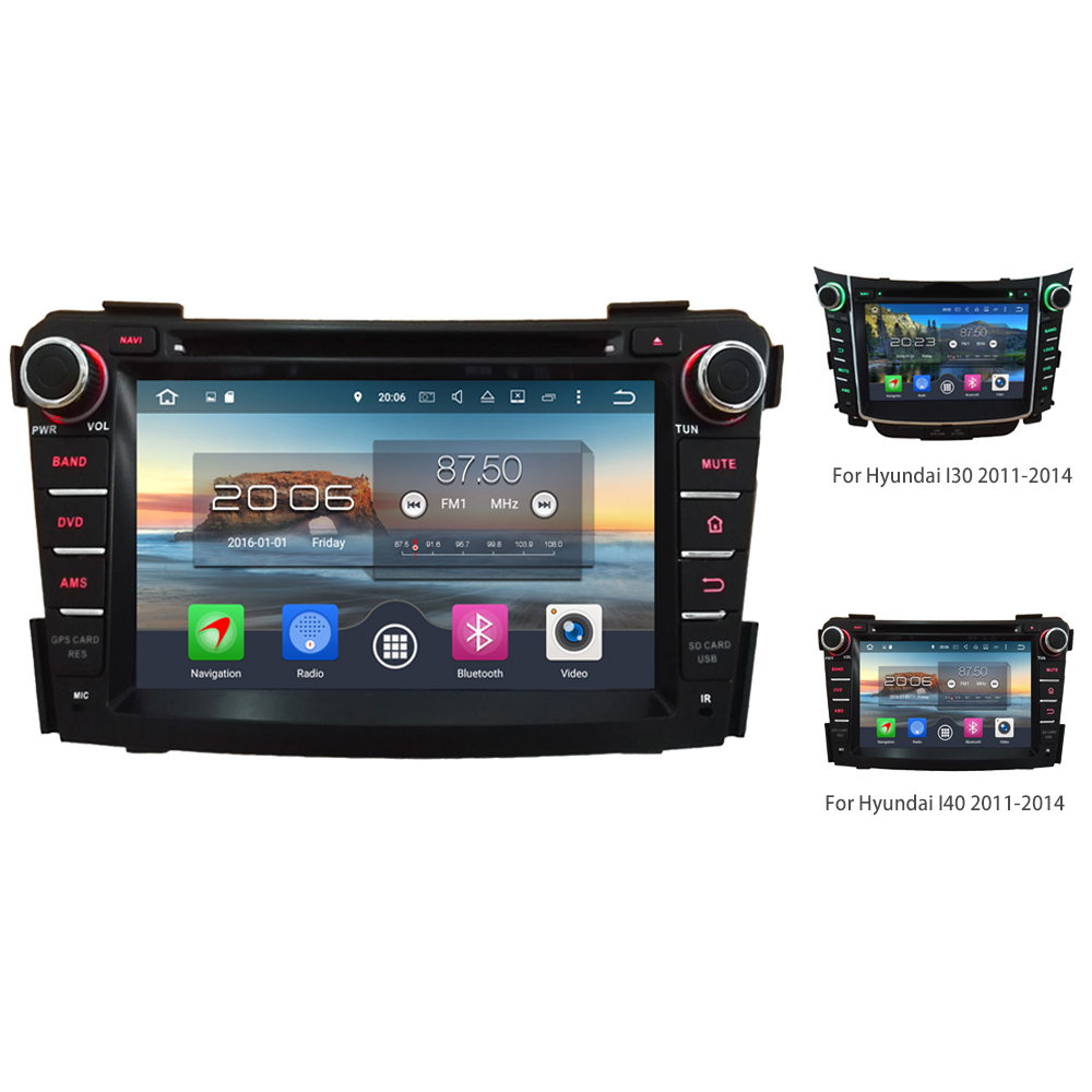 7 4G WIFI Octa Core A53 PX5 2GB RAM 32GB ROM Android 6.0.1 Car DVD Multimedia Player Radio GPS For Hyundai I30 I40 2011-2016 ownice c500 4g sim lte octa 8 core android 6 0 for kia ceed 2013 2015 car dvd player gps navi radio wifi 4g bt 2gb ram 32g rom