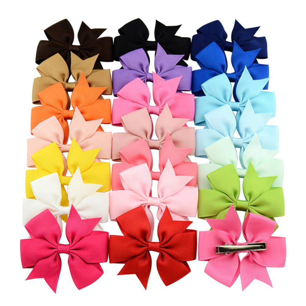 Fashion 3 Inch Boutique Grosgrain Ribbon Hairclips Girl Bows With Clip Hair Clips Hair Pins Hair Accessories 564