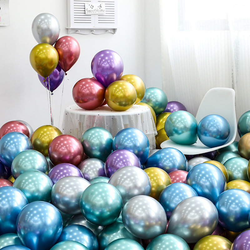 30/50/100pcs 12inch Metal Balloon Happy Birthday Decoration 1st First Birthday Baby Boy Girl Party Just Married Garland One Year