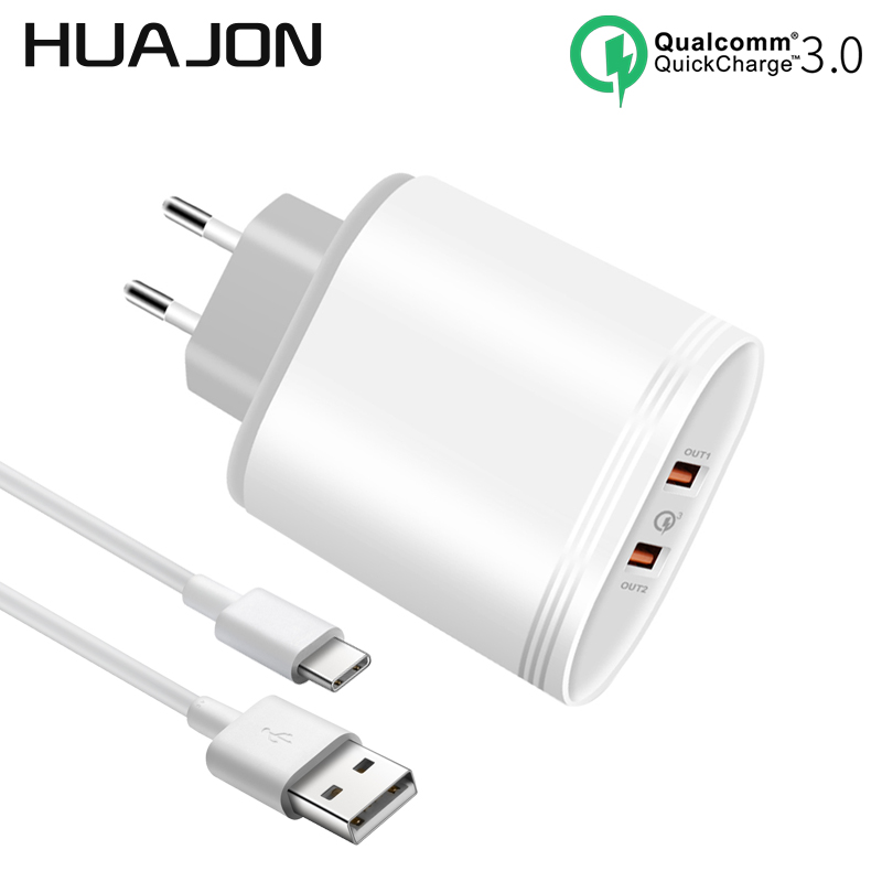 Dual Ports Quick Charge 3.0 36W USB Wall Charger EU/US Plug Qualcomm QC3.0 Travel Charger Adapter For iPhone X 8 Samsung S8 Plus