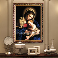 Home Decor Jesus Christ Virgin Mary Holding The Jesus Art Decor Painting Print Giclee Art Print