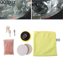 OOTDTY 8 Pcs Car Glass Windshield Rear Side Window Scratch Remover Polishing Pads Repair Kit