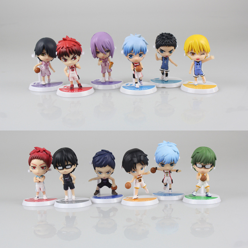 2 Style 6pcs/set Anime Kuroko's Basketball Kuroko no Basuke Edition PVC Action Figure tetsuya Basket Collection Model Toy