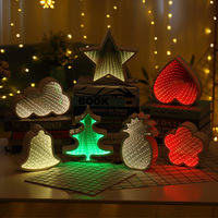 3D Creative Stars Novelty Cloud Tunnel Lamps Cute Heart Night Light Led Decor Lamp For Kids