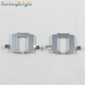 Rockeybright h7 Adapter Retainer Clip for Audi HID H7 Bulb Metal Holder for Opel Vectra C Astra H H7 car headlight socket base image