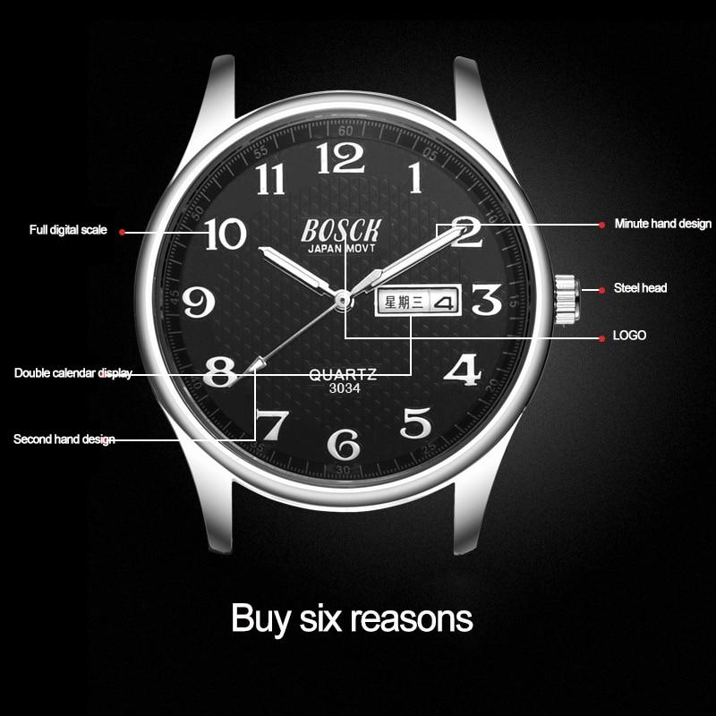 Weekly Calendar Quartz : Προϊόν bosck new hot week calendar men s watches