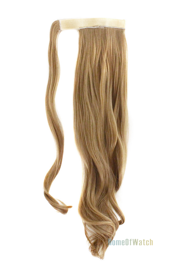 Velcro Hair Extension Long Curly Dark Blonde Hair Piece Fake