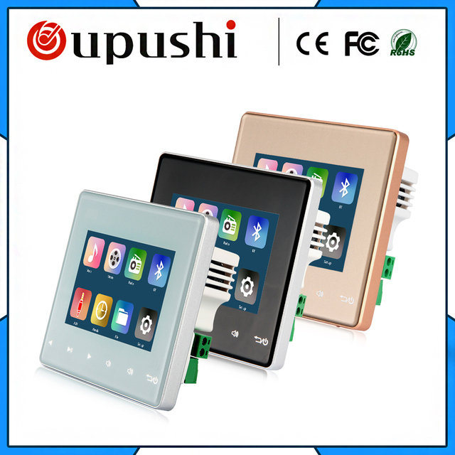 Home Audio And Music,Ceiling Speaker System,Bluetooth Digital Stereo Amplifier, In Wall Awith Touch Key