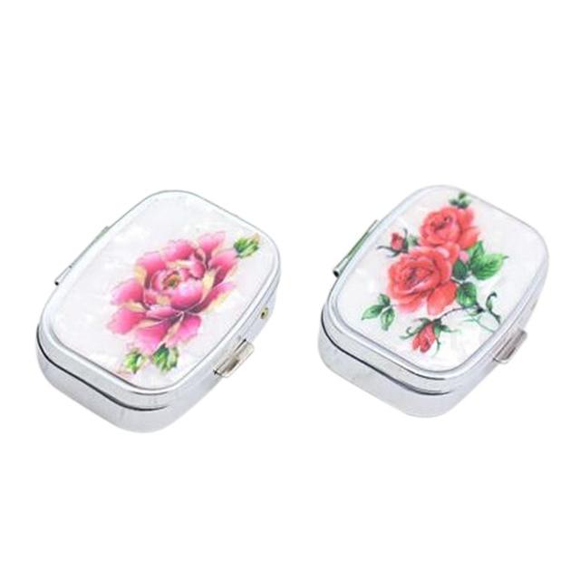 Trendy 1Piece Mini Portable Folding Jewelry Organizer Box Flower