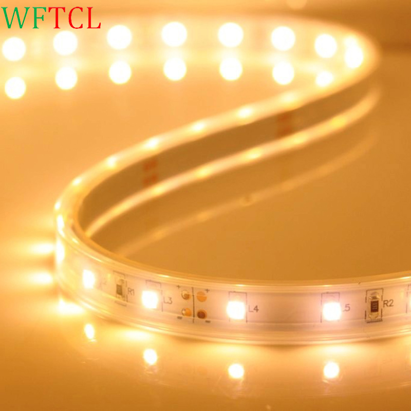 Tiras de LEDs 3528 SMD LED tape lights warm white IP68 Tube waterproof 60 LEDs per meter 5 meters for outdoor under water use