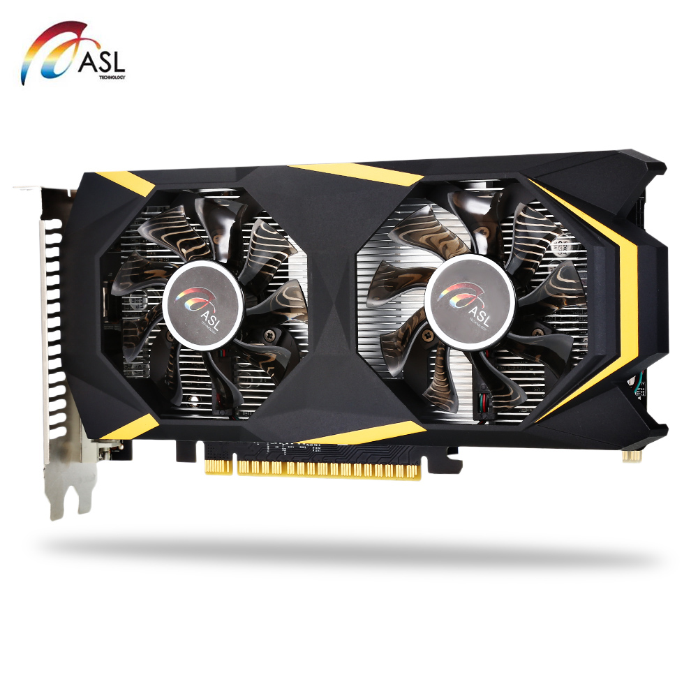 ASL gt1050ti SkyNet игровой Графика Card 4 ГБ 128bit GDDR5 видео карты DP/HDMI/DVI 768 CUDA core 7008 мГц 7680x4320/60 Гц