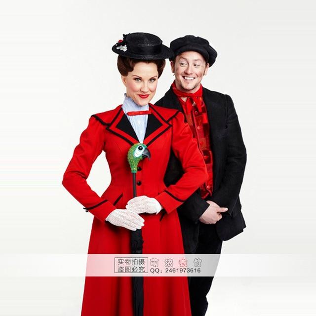Custimzied Mary Poppins Kleid Mary Poppins Cosplay Kostum Shirt