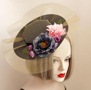 Princess Gothic Lolita Hairpin Handmade Lace Flower Hat Hair Headdress Flowers Hairclip Vintage DIY Accessories  1