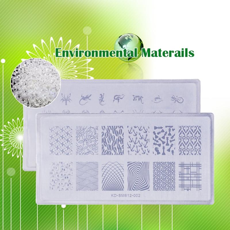 Baratos 3 Unids/lote Plástico Nail Art Stamping Placas Patrones ...