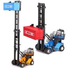 Liga diecast 1:50 veículo de construção caixa vazia empilhadeira empilhadeira escalada modelo simulação modelo carro escavadeira crianças brinquedos