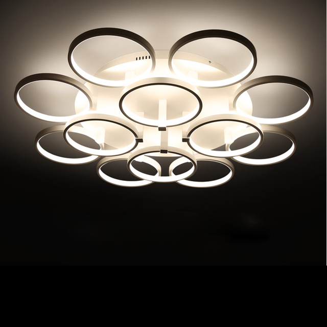 buy circle rings designer ceiling lamp. Black Bedroom Furniture Sets. Home Design Ideas