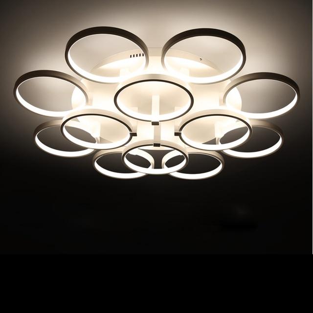 online-shop kreis ringe designer deckenleuchte avize beleuchtung ... - Deckenleuchten Für Schlafzimmer