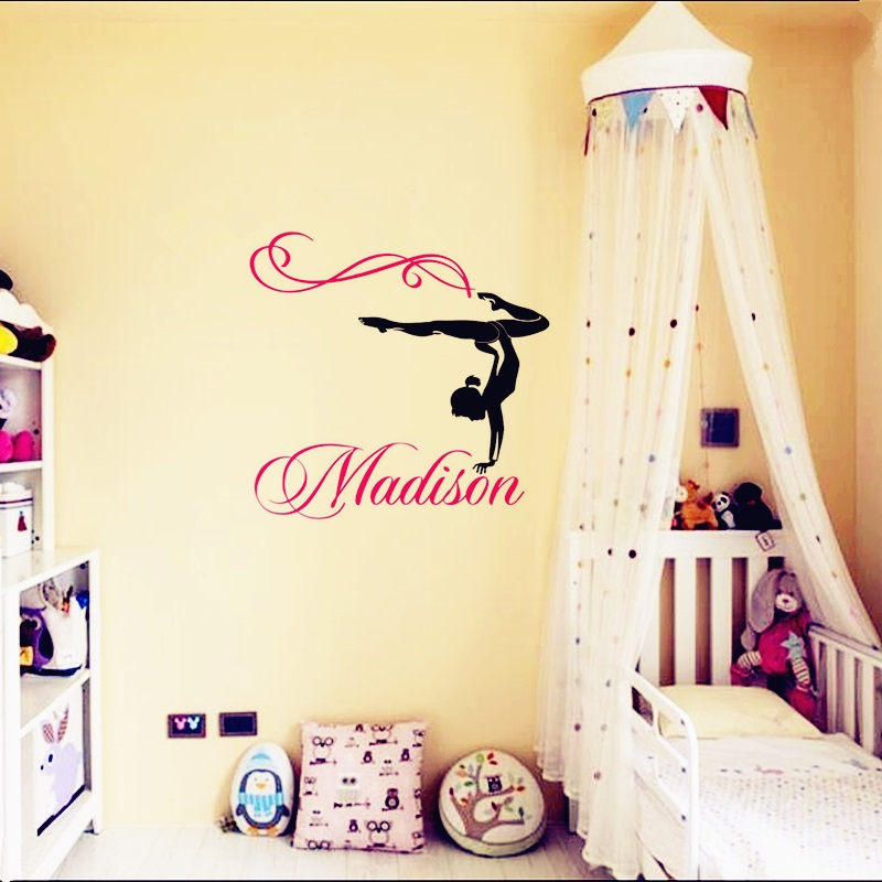 2016 New Hot Personalized Any Name Wall Stickers And Dancer Ballet ...
