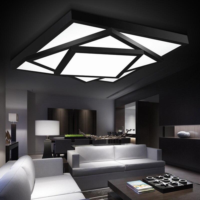 Livraison gratuite Moderne LED lumières lustre au plafond lampe pour salon chambre lustres de sala maison intérieur éclairage dimmable
