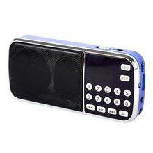 2016 Recién Llegado de Portable Digital Estéreo FM Radio Mini Altavoz de la Música jugador con Tarjeta TF AUX USB de Entrada de Sonido Caja Azul Negro rojo