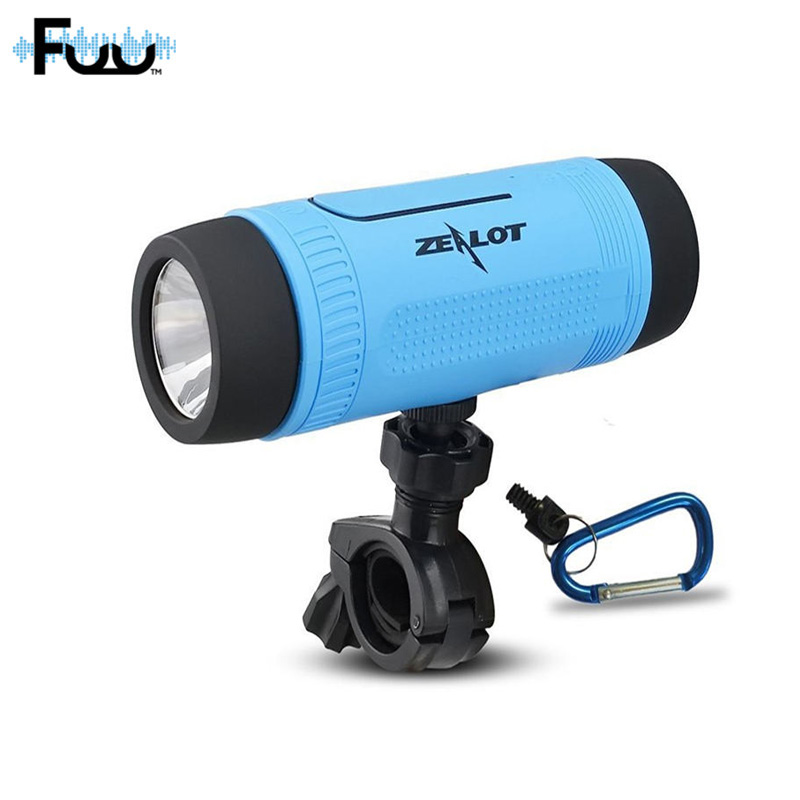 FUU S1 Bluetooth Outdoor Bicycle Speaker Portable Subwoofer Bass Speakers 4000mAh Power Bank LED light Bike