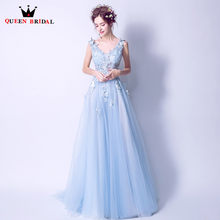 20498798a398e Long Light Blue Evening Gown Promotion-Shop for Promotional Long ...