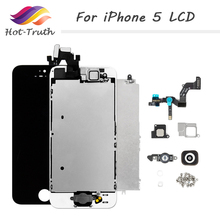 Full Set Complete Assembly LCD Display For iPhone 5 5C 5S LCD Touch Screen Digitizer Home Button Front Camera+Speaker with Tools