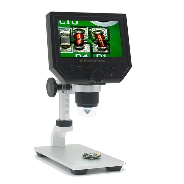 """1-600x цифровой электронный микроскоп портативный 3.6MP VGA микроскопы 4,"""" HD LCD Pcb Материнская плата ремонт эндоскопа Лупа камера - Цвет: G600 Al-alloy Stent"""