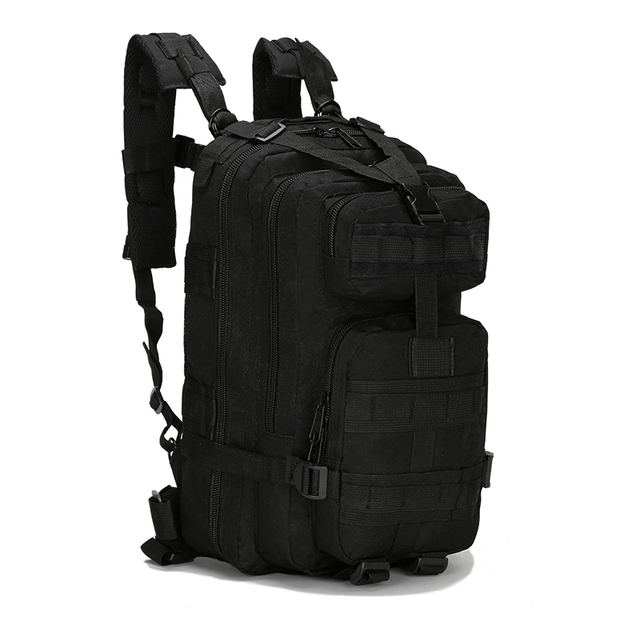 Large Capacity Black Tactical Backpack Waterproof MOLLE Backpack Outdoor  Hiking Sport Bag Travel Camping Rucksack Climbing Bag 25afcd5f1f7f5