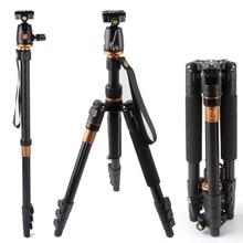 QZSD Q555 Light Portable Camera Tripod New Camera Tripod Monopod Ball Head Universal For Nikon For Canon For Sony DSLR SLR