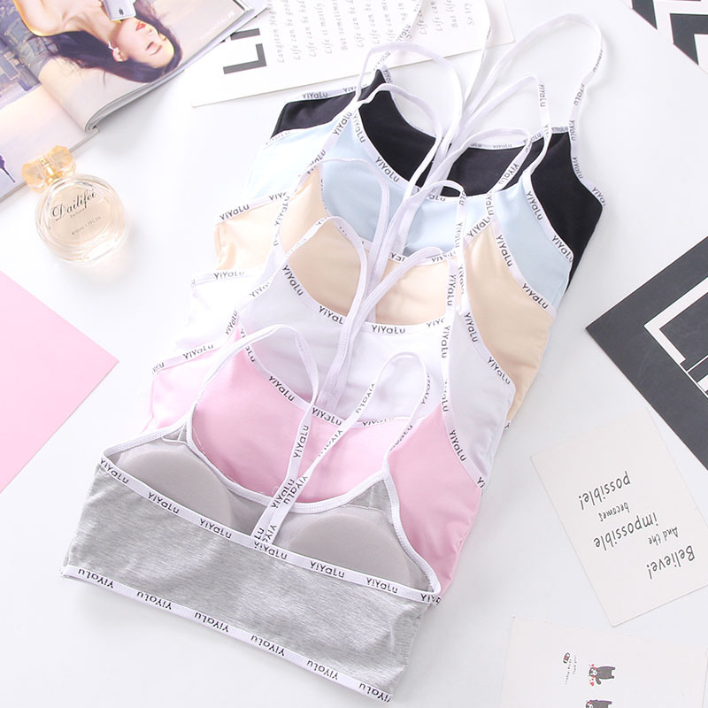 Girls Padded Bra 2019 Kids Training Bra Teens Wireless Bra Tops Girls Breathable Underwear Teenage Girls Clothing Envio Gratis