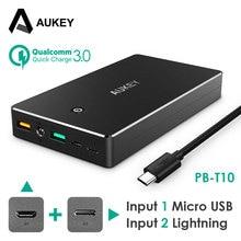 AUKEY Puissance Banque 20000 mAh Portable Batterie Externe Chargeur De Sauvegarde Portable Dual USB Powerbank pour Téléphone Intelligent Galaxy S8 iPhone LG