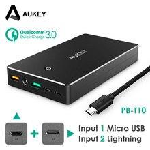 AUKEY Güç Banka 20000 mAh Taşınabilir Harici Akü Mobil Yedekleme Şarj Çift USB Powerbank iphone Akıllı Telefonu Galaxy S8 LG