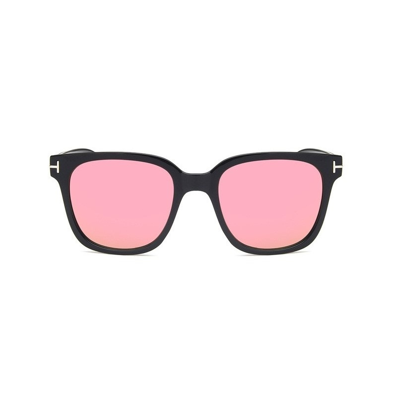 LONSY New Square Sunglasses Men Women Vintage Driving Mirrors Coating Shades Sun glasses Eyewear Female Girls Pink Sunglass in Women 39 s Sunglasses from Apparel Accessories