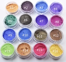 50 gram for 1 bag pearl luster powder 16 Colors Mica Pearl Pigment Dust Powder DIY Nail Art Polish and Makeup Eye Shadow